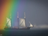 Tall Ship and a Rainbow