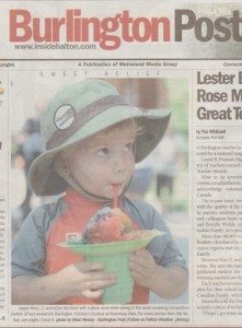 Jasper on cover of Burlington Post