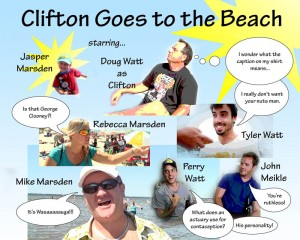 Clifton Goes to the Beach