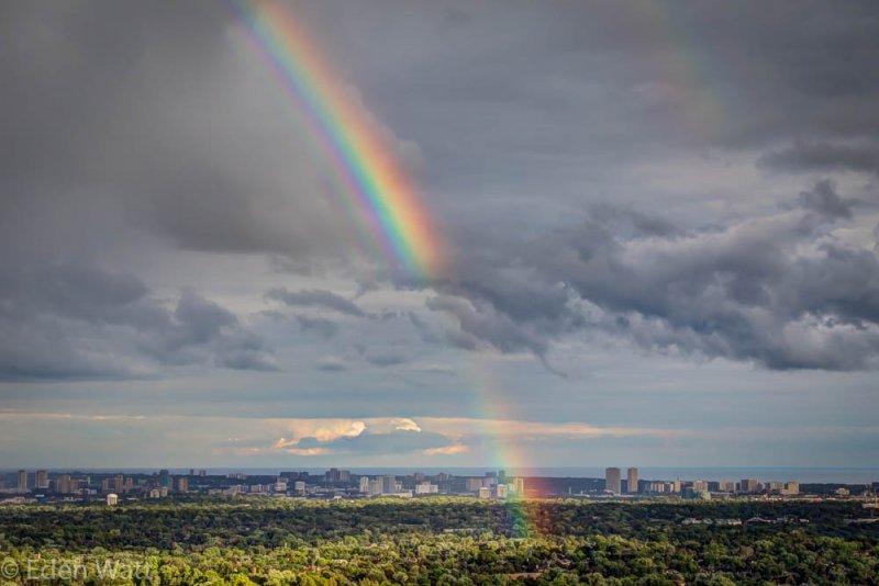 Rainbow-over-City
